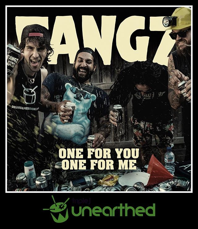 """Our new single """"One For One One For Me"""" is now up on @triple_j_unearthed for your listening pleasure. Recorded at @electricsunstudios with @yokoonah we're absolutely stoked with this track! Go give it a listen and write us a review. Link in bio.  #FANGZ #14U14M3"""
