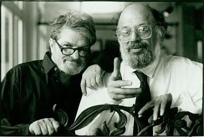 Corso (Left) with Allen Ginsberg