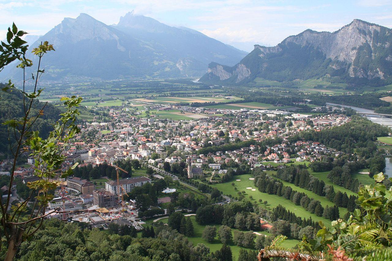 View on Bad Ragaz with Gonzen
