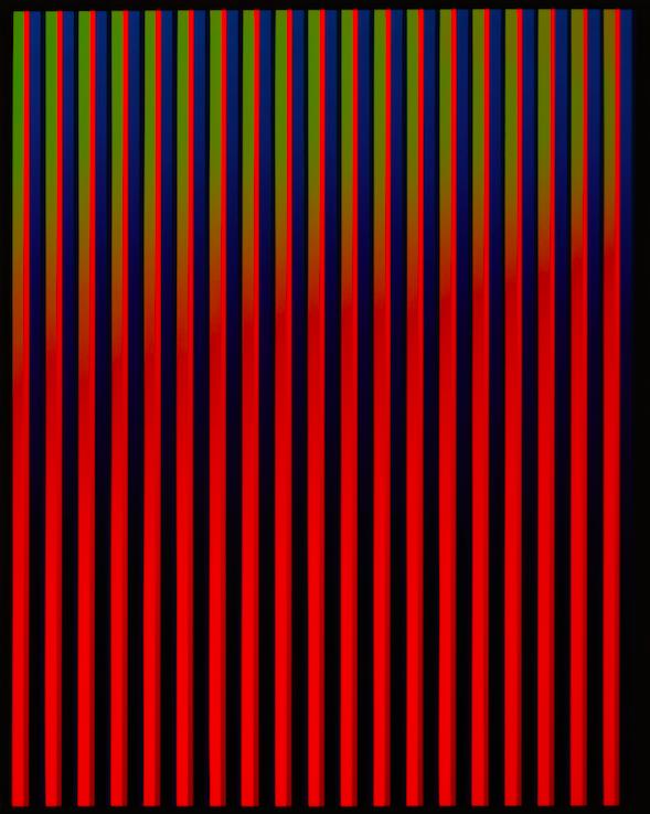 'Farbliche Veränderung', rot, gün, blau - Walter Maurer
