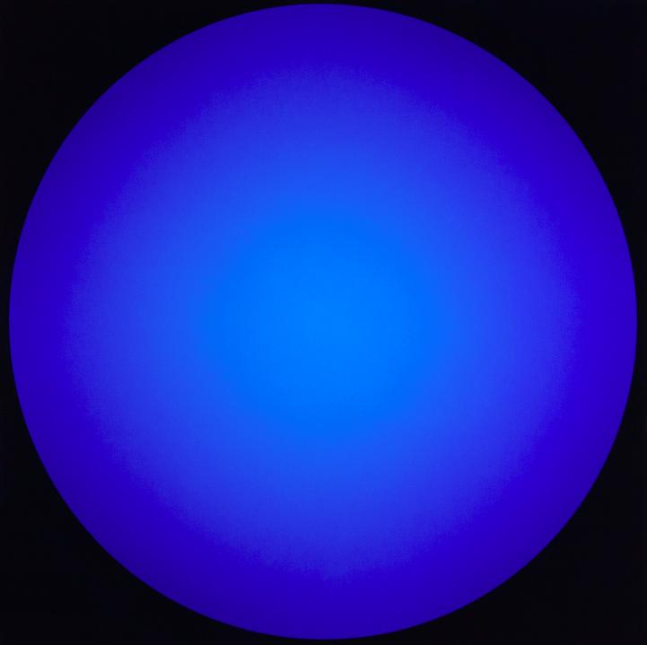 'Verlauf', blau - Walter Maurer