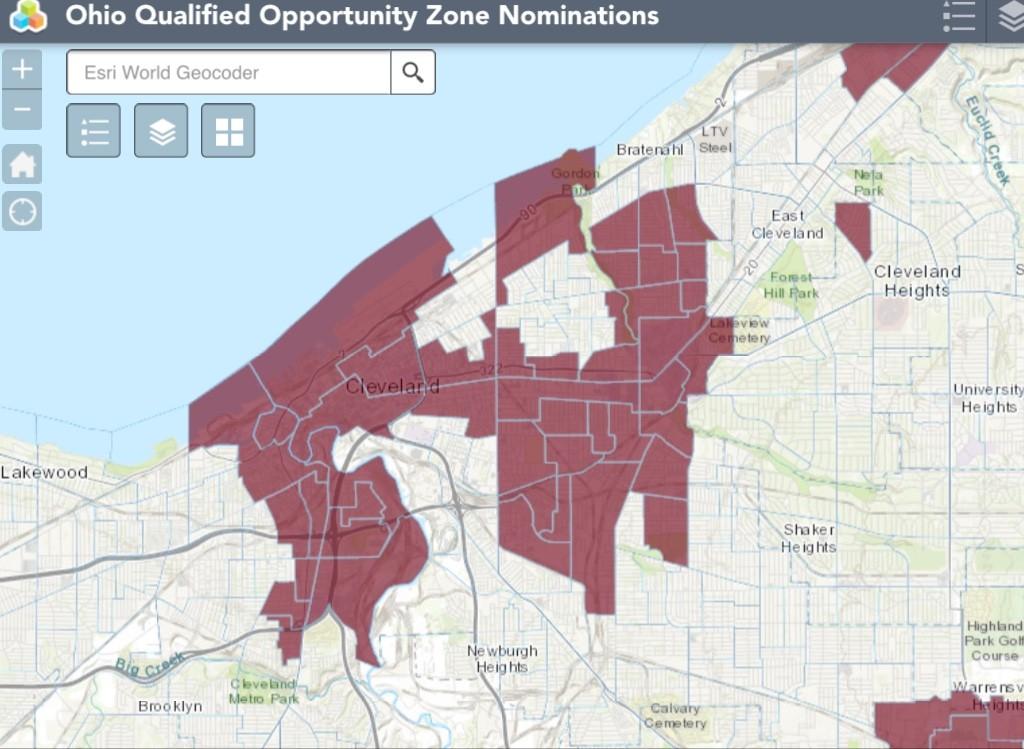 Cleveland Opportunity Zones   Source: Ohio Development Services Authority