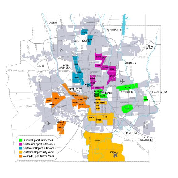 Columbus Opportunity Zones   Source: City of Columbus, Ohio