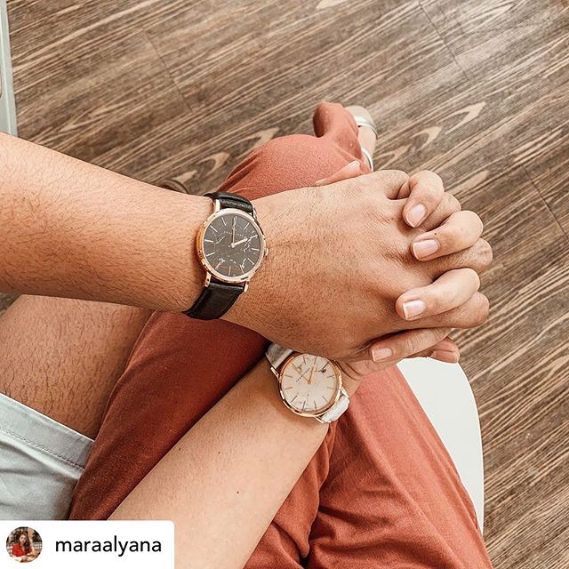 Couple goals with our Marble Collection ♥️🌫// . . Reposted @maraalyana The best thing that you could ever give your loved one aside from love and loyalty — these watches to complete their OOTDs 😂