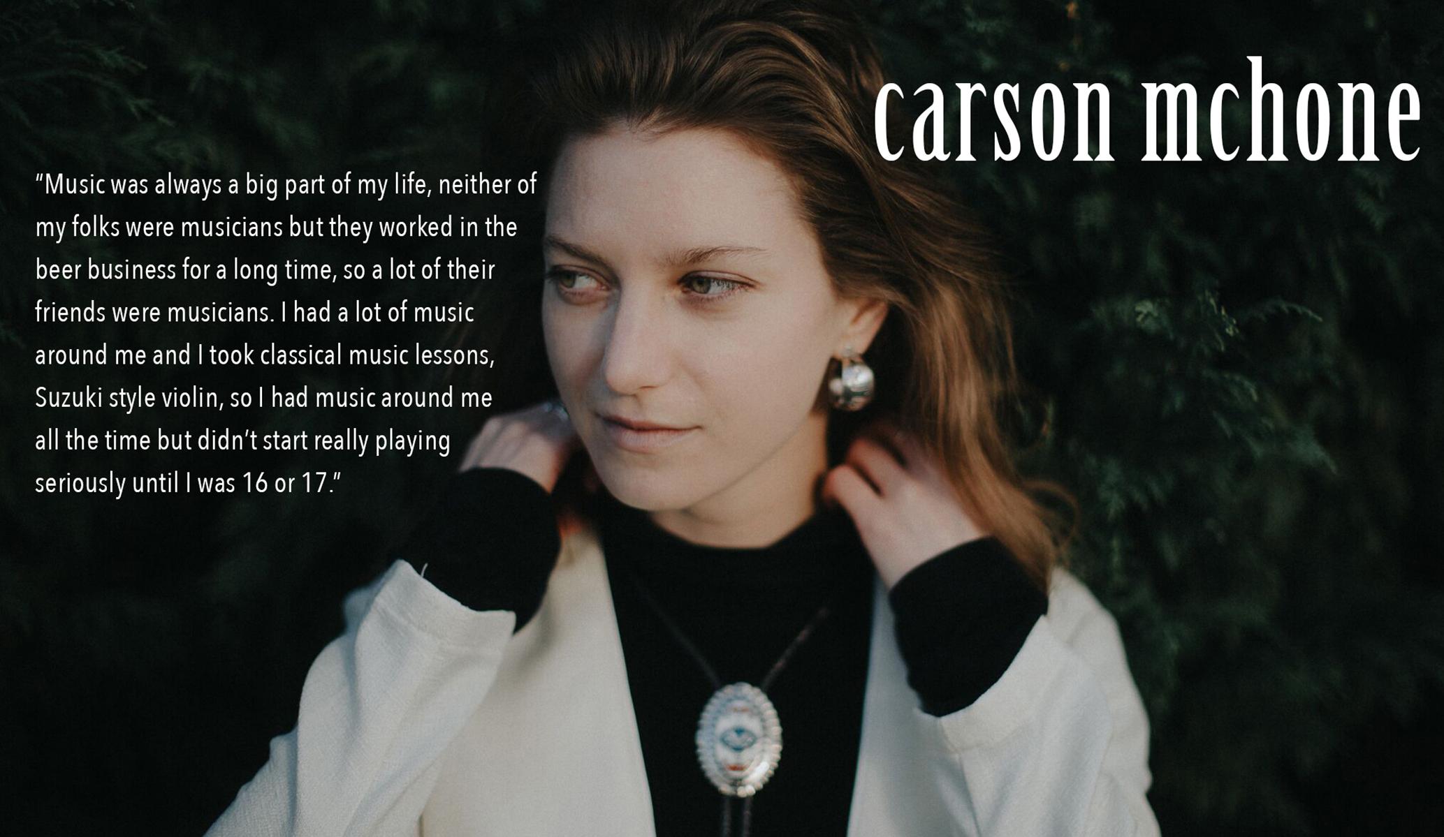 Photograph courtesy of carsonmchonemusic.com