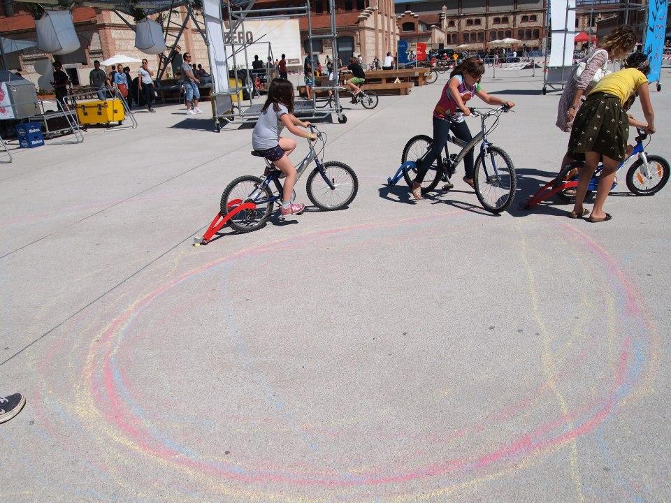 Talleres infantiles para el Festibal con B de Bici (Madrid)