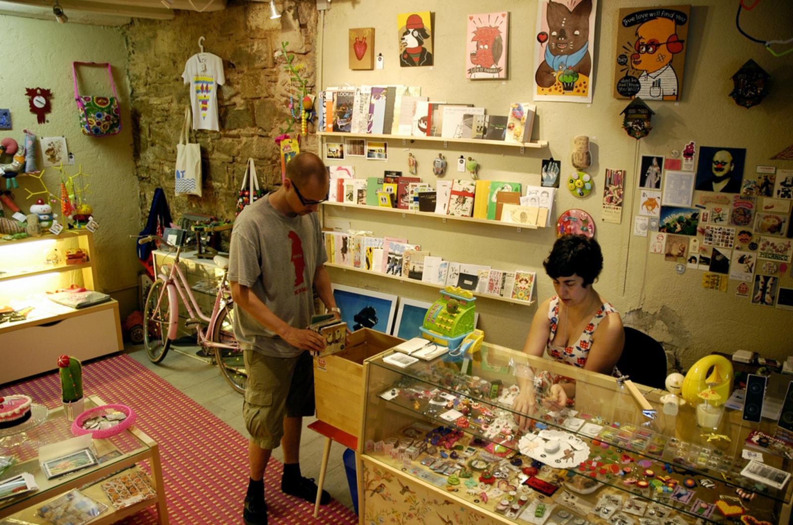 El local de Duduá del 2006 al 2009. Empezamos en un pequeño local en el barrio del Born como tienda y galería.