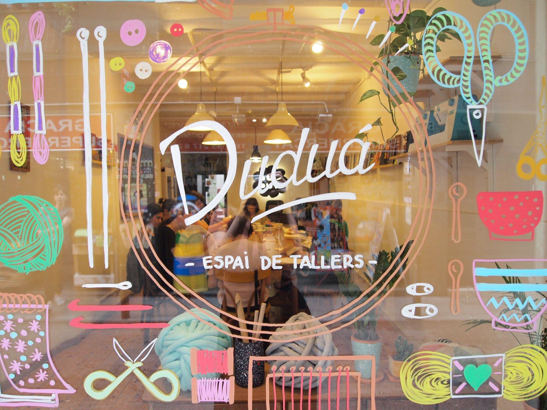 Nuestro actual local de talleres en el barrio de Gràcia de Barcelona. Abierto en el 2012.