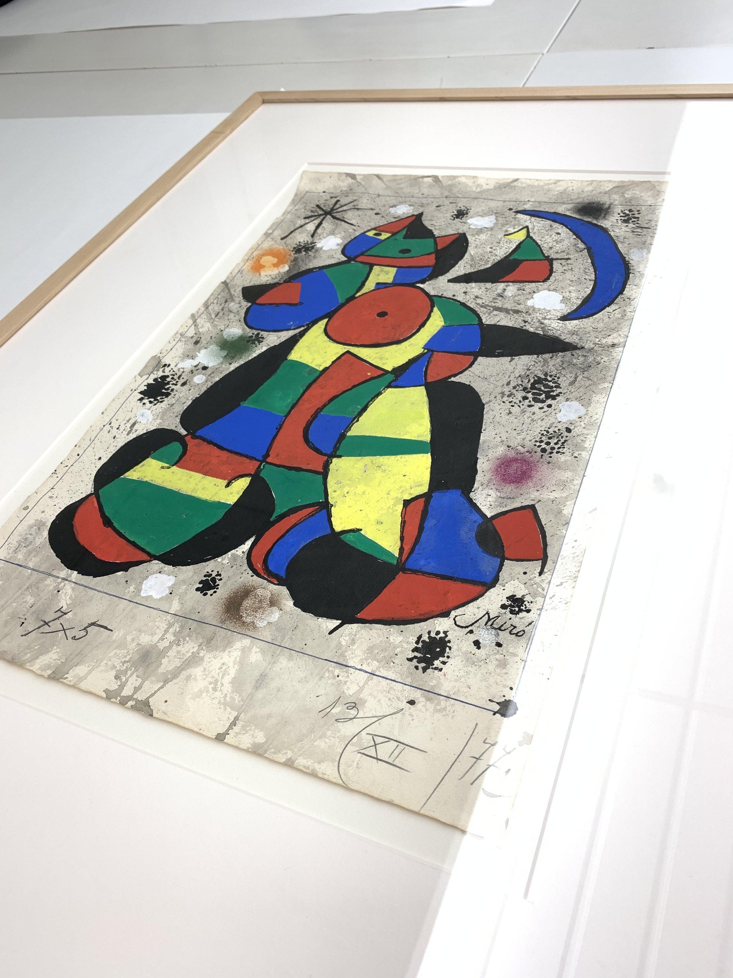 El original en el archivo de la Fundación Joan Miró