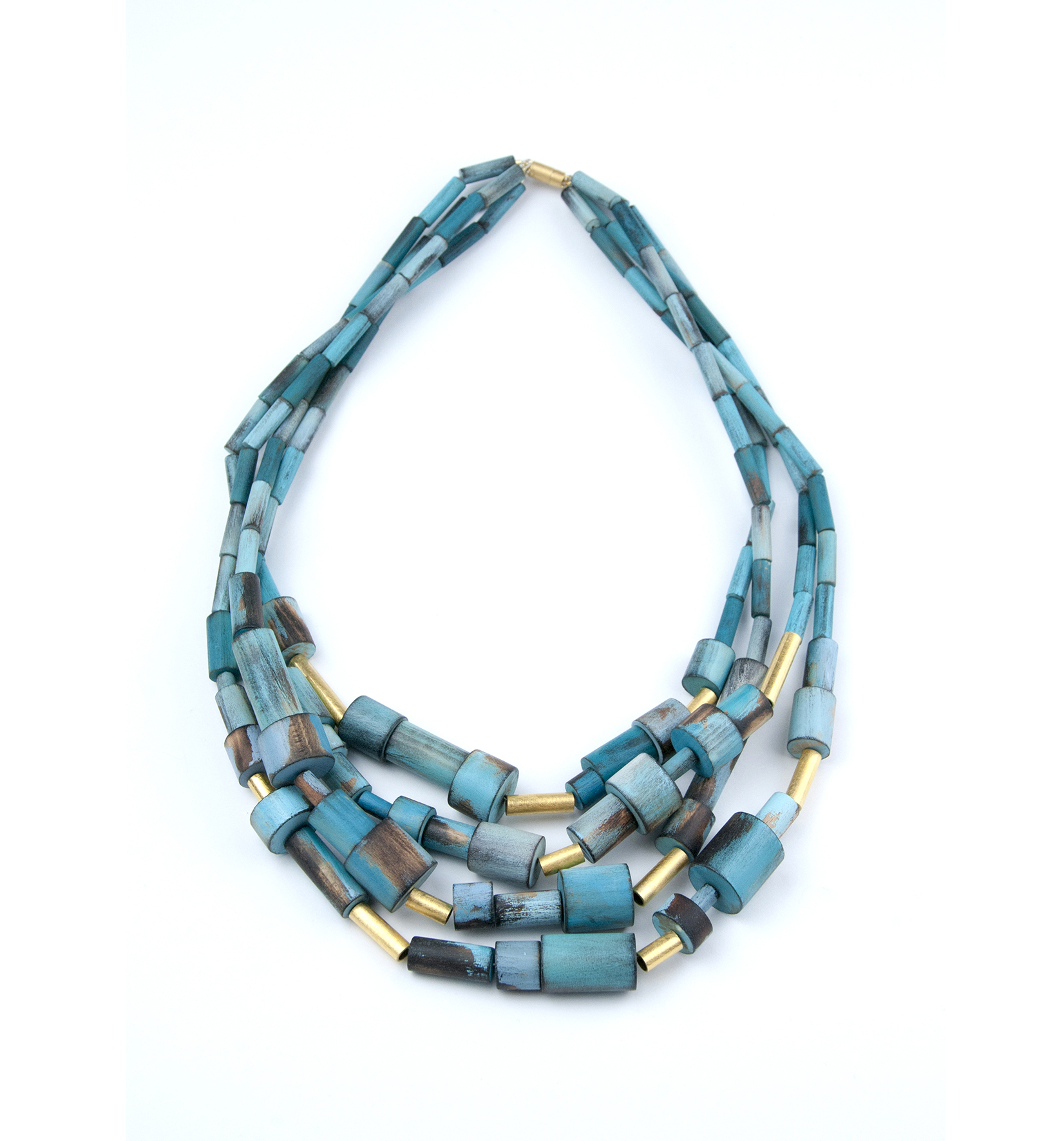 Cristina Zani Work My Seoul gold and turquoises necklace.jpg
