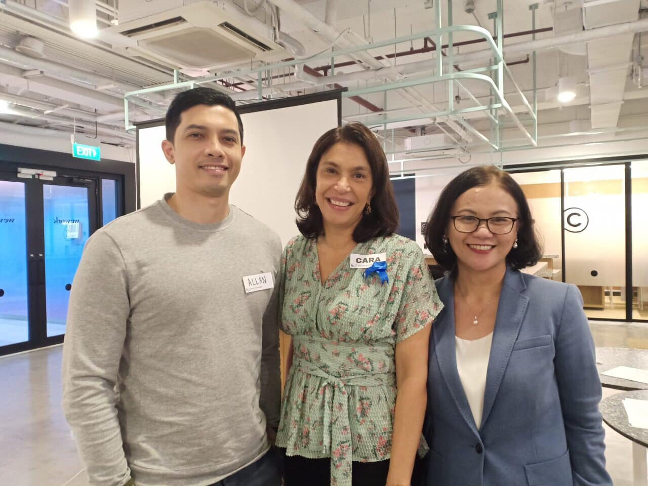 From L-R: Accenture Managing Director and Male Ally, Allan Caballero, Co-Founder of For the Women (FTW) Foundation, Cara Wilson and Accenture Senior Managing Director and Global Artificial Intelligence Lead, Ambe Tierro.