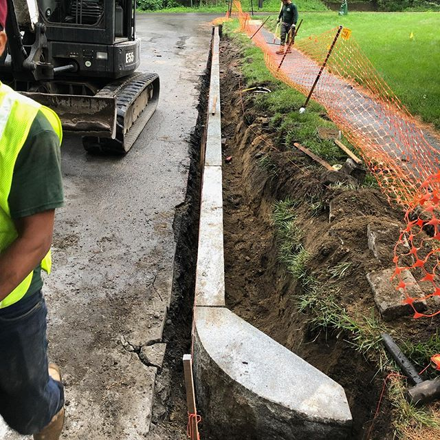 Great job by our excavation crew on this curbing in Winchester.