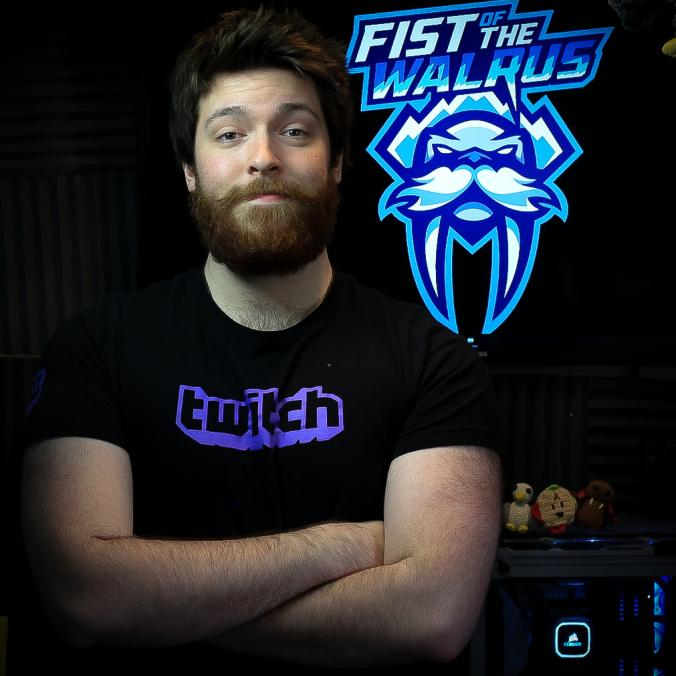 FistofTheWalrus - Hey! My name is Alex a.k.a FistofTheWalrus and i'm an avid role-player and partnered broadcaster over on Twitch.tv. I started broadcasting with my humble beginnings in college radio, but got sucked into the big, beautiful, purple world of Twitch. I currently stream full-time and do freelance v.o work. Catch me over at Twitch.tv and i'll probably be doing some zany improv with one of my many RP characters! Twitter: https://twitter.com/FistofTheWalrus Twitch: https://www.twitch.tv/fistofthewalrus