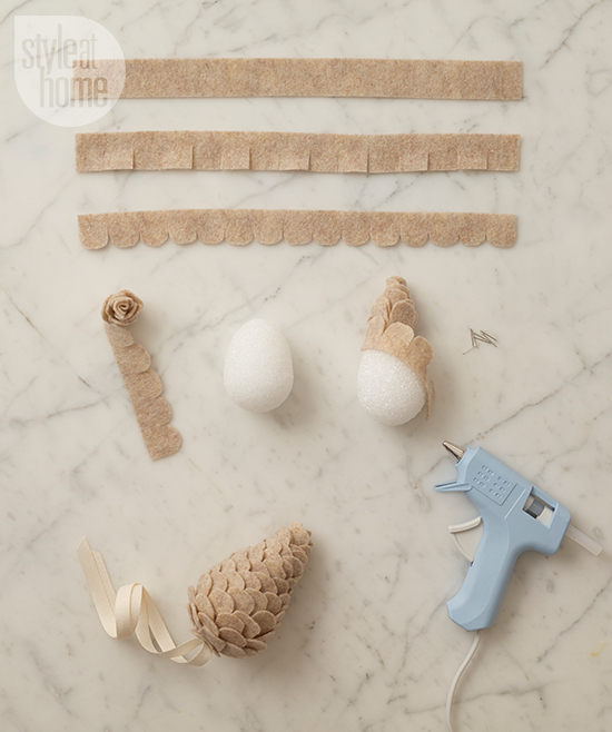 Style at Home: DIY PROJECT: FELT PINECONES