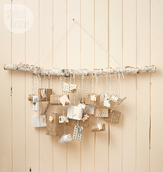 Style at home | DIY PROJECT: BIRCH BRANCH ADVENT CALENDAR