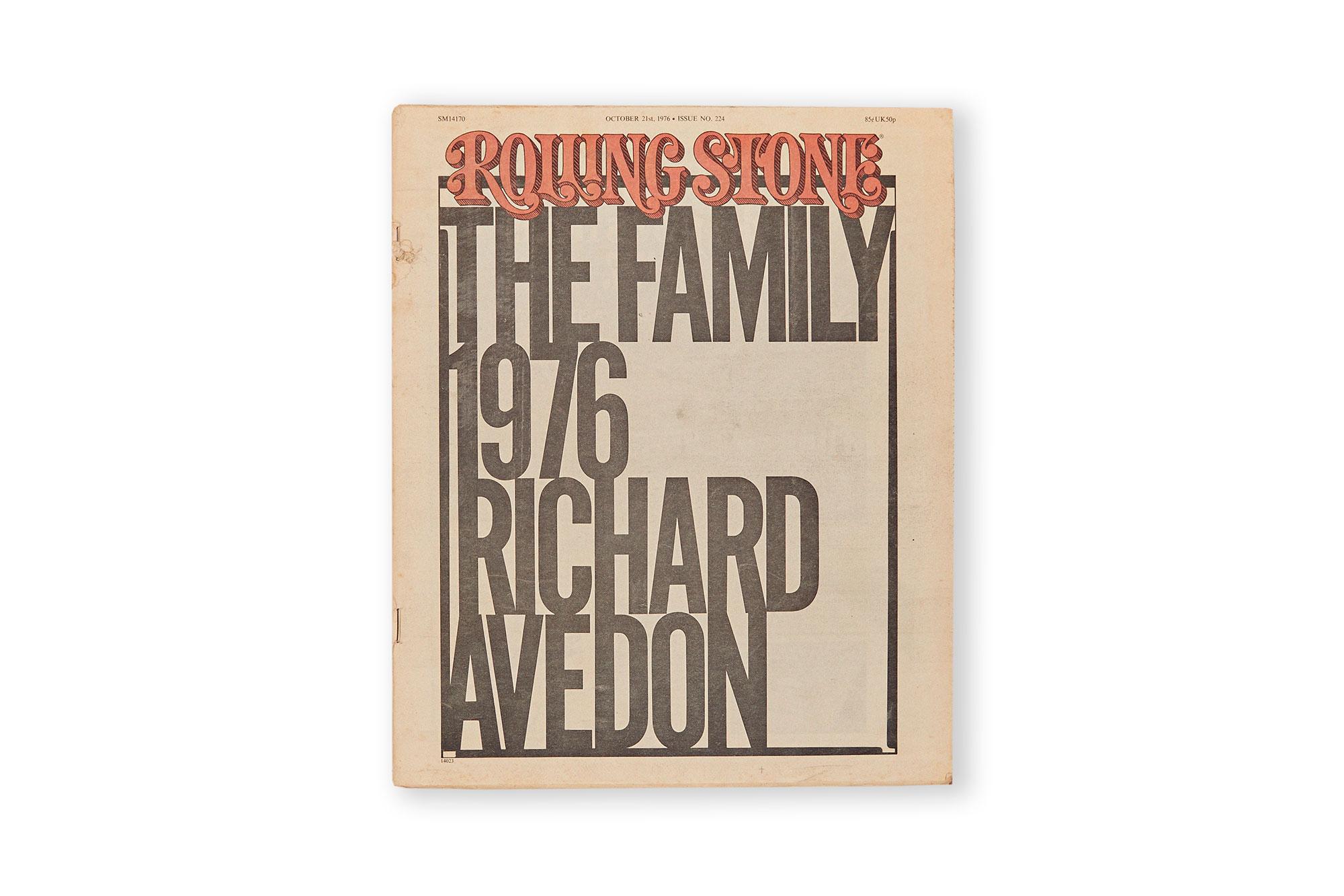 ROLLING STONE 1976, richard avedon.