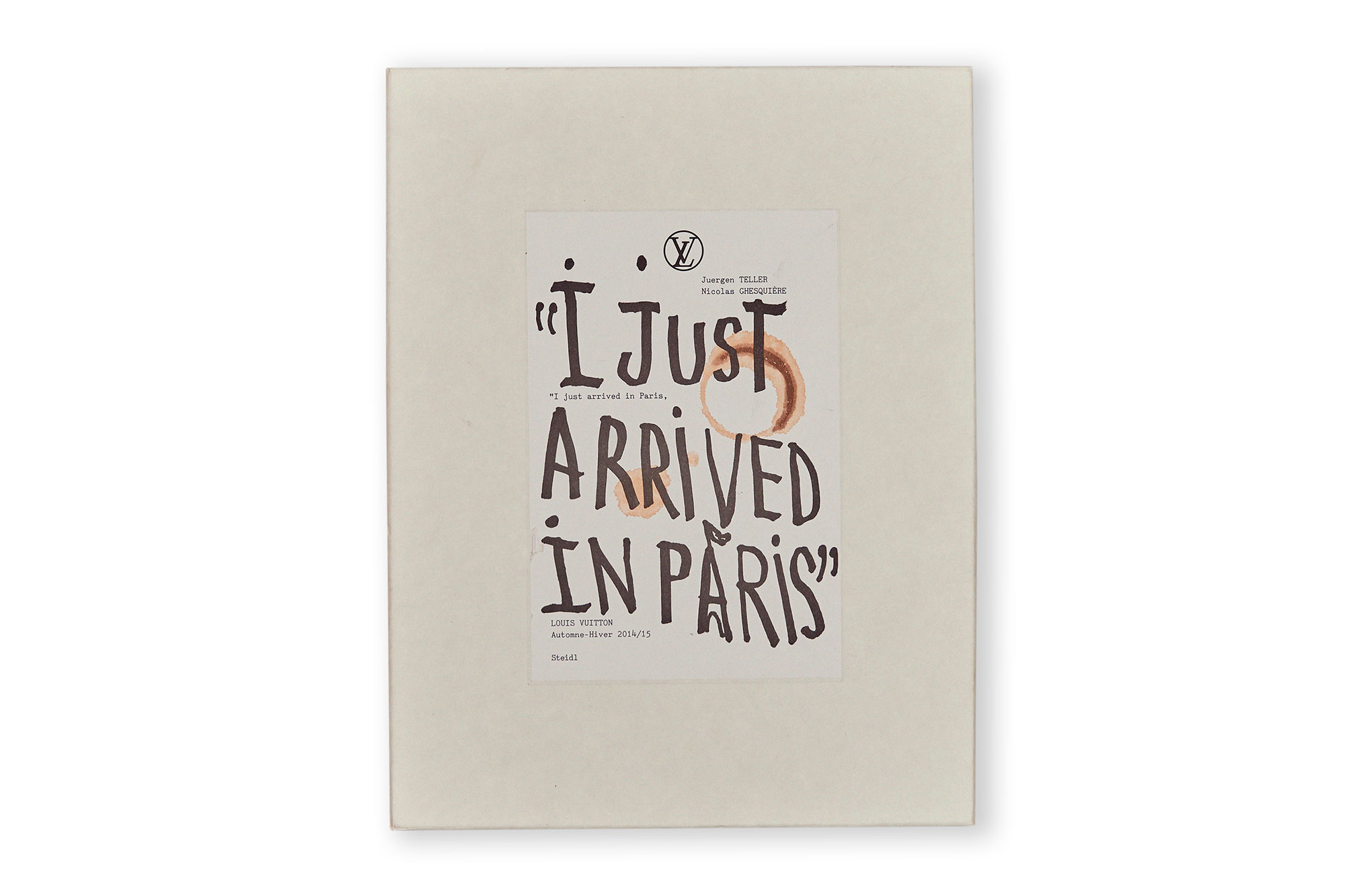 I JUST ARRIVED IN PARIS, juergen teller.