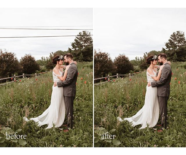 A little before and after & I have to admit these look gorgeous with out the power lines! Photos by the lovely @lindsaystephanyphoto  #photoretouching #photoeditor #trueeditsretouching
