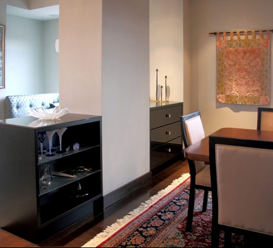 Kitchen / Dining Room : custom display + storage cabinetry