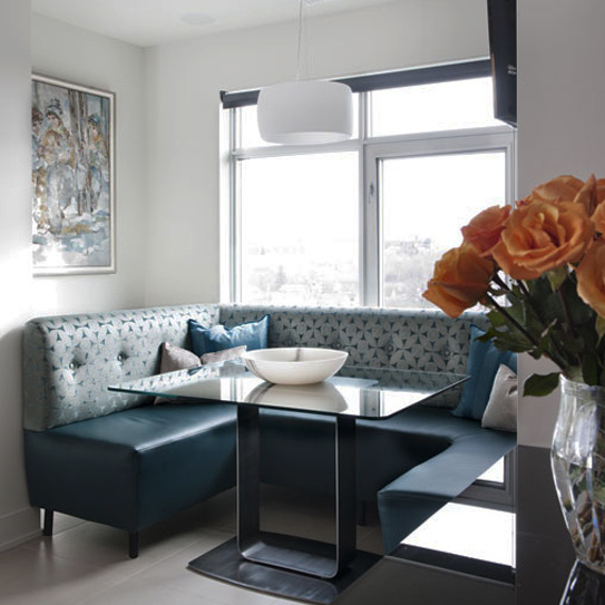 131 Holland Penthouse Banquette Dining Area Modern Yvonne Potter Interior Design Ottawa.jpg