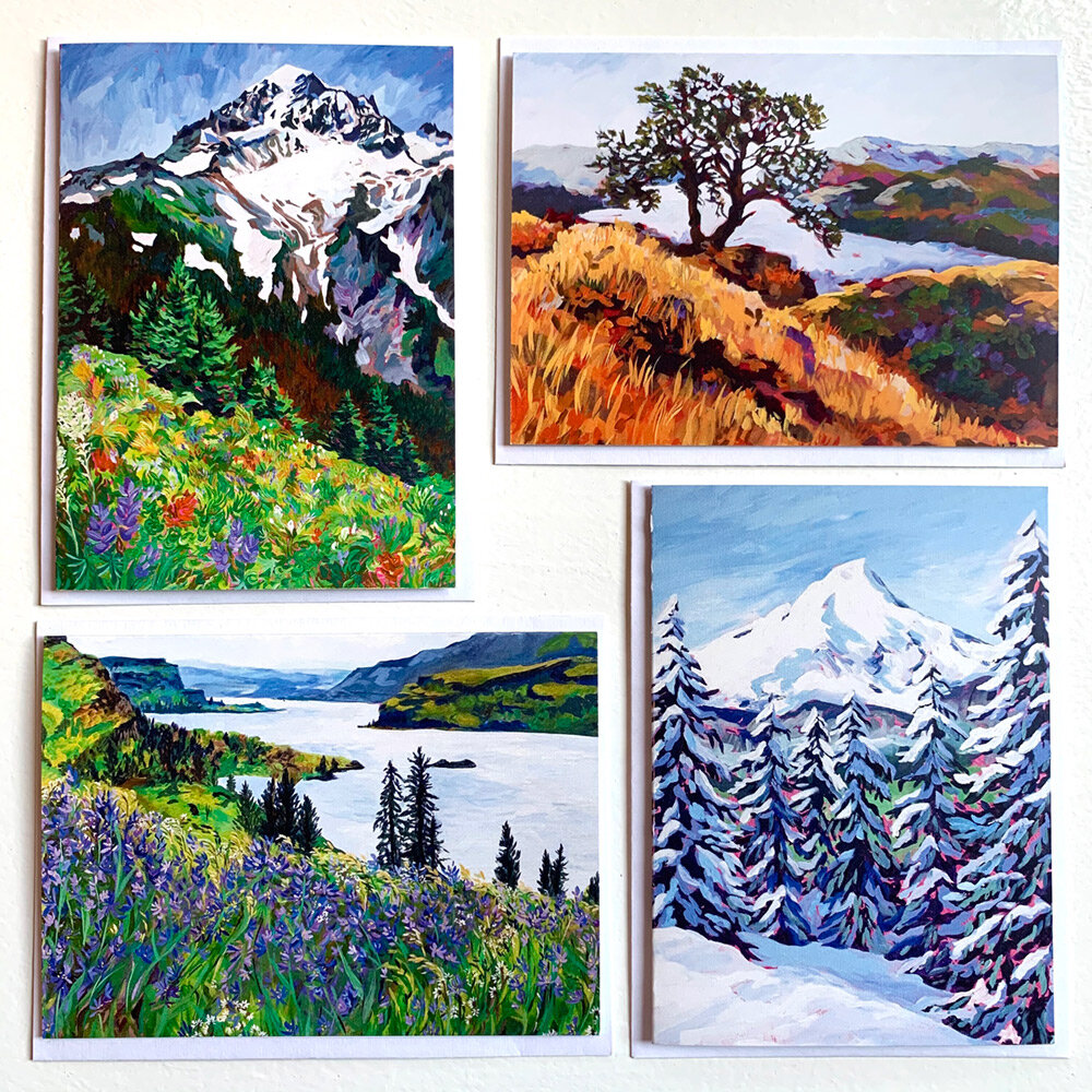 Greeting Cards  Pack of Four