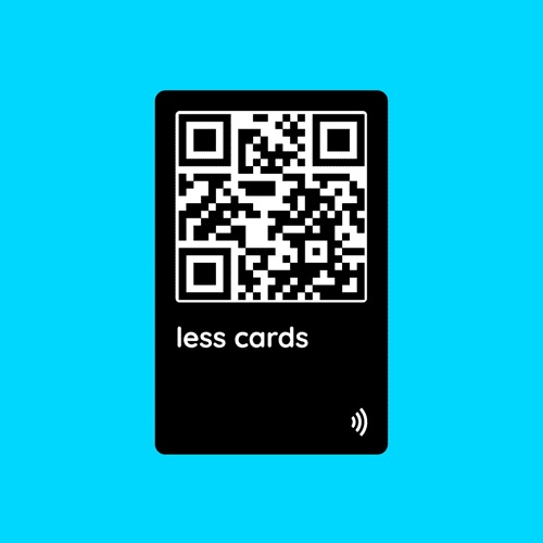 - Do more with less cards. Instantly share contact information with new friends.