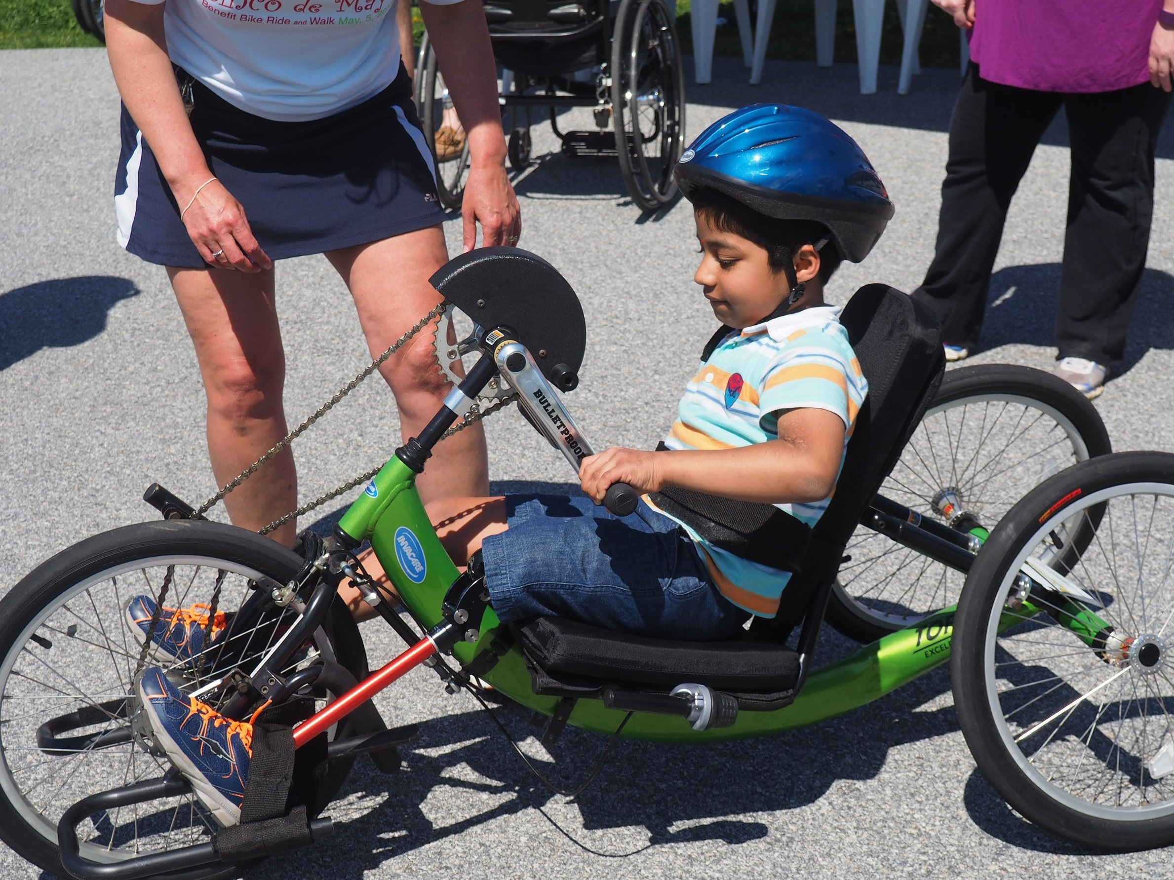 A hand cycle for a child with a spinal cord injury: - $4250