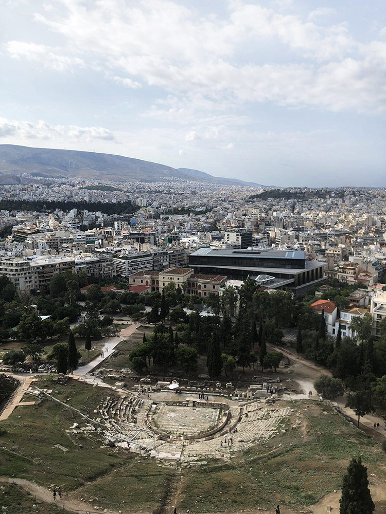 The view from the top of the Acropolis