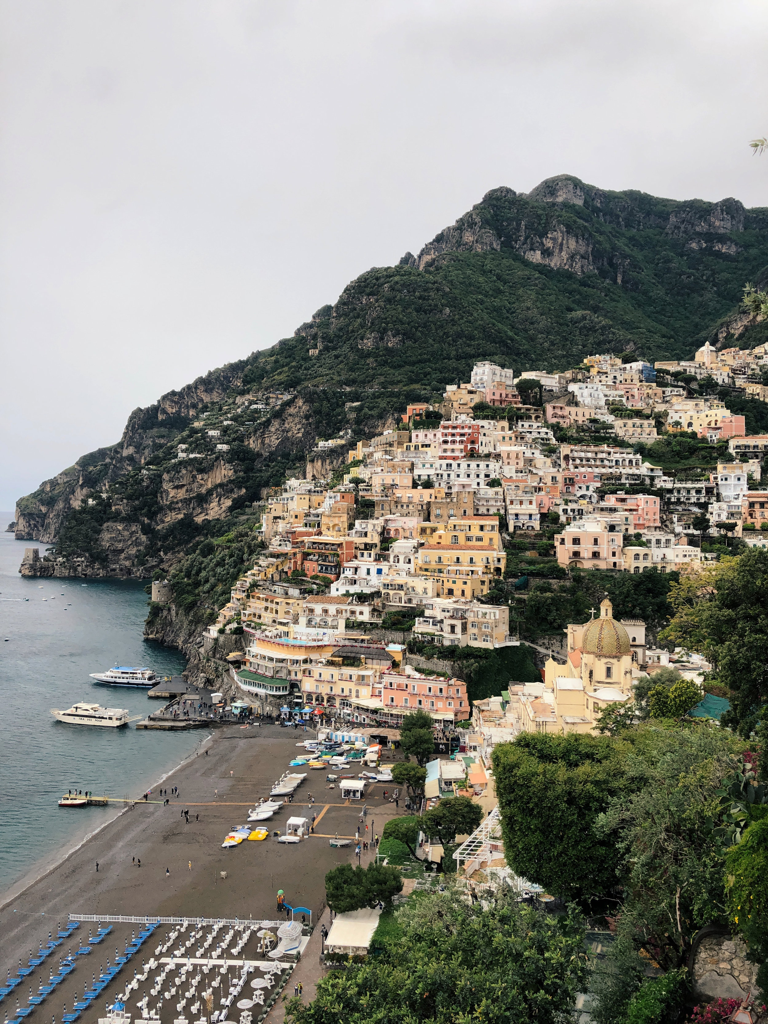 Cliffside view of Positano