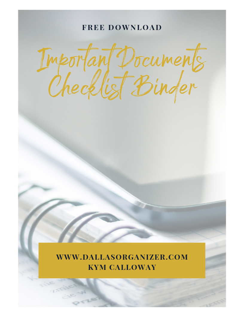 Important  Documents Checklist  Binder | Dallas Organzier.png