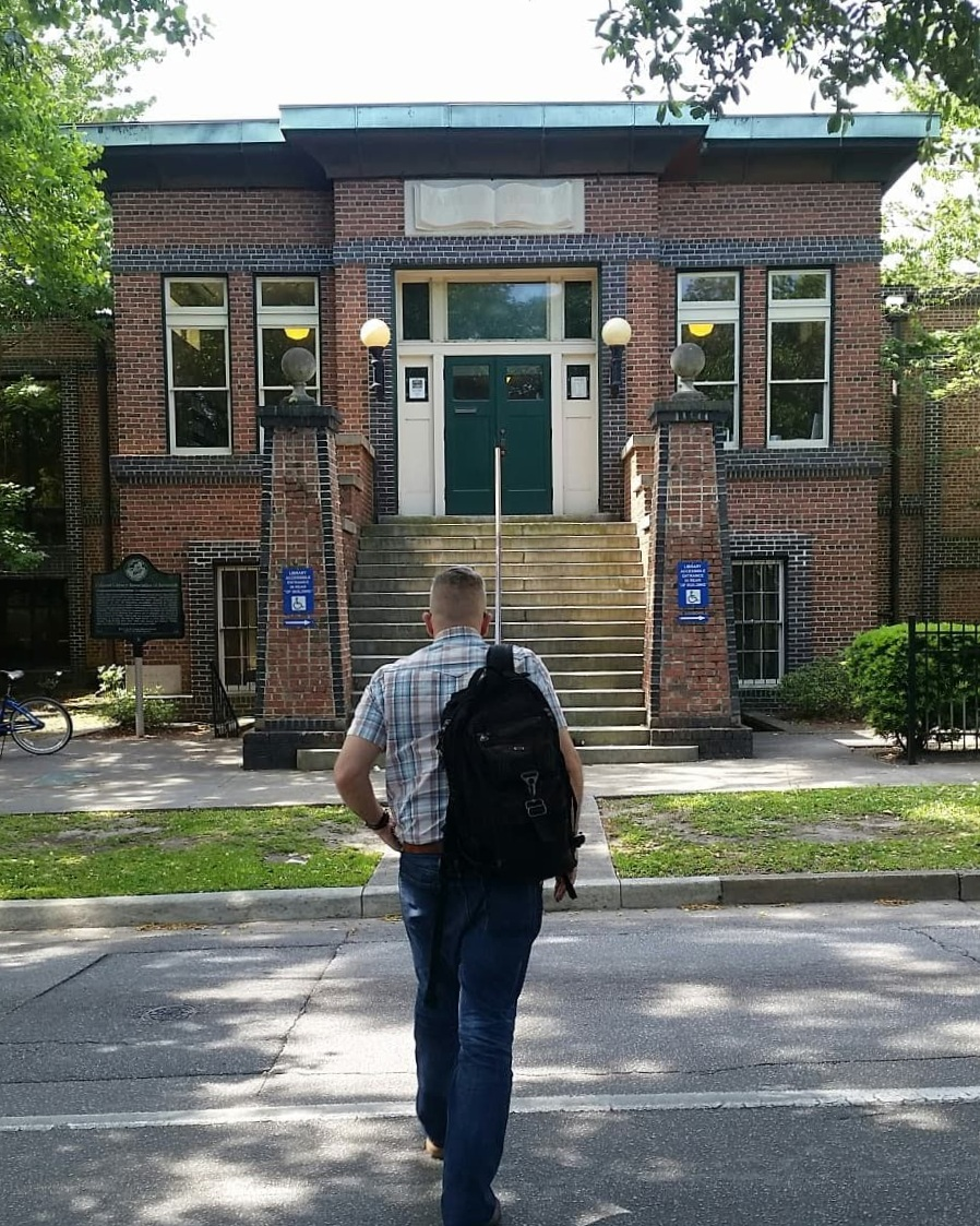 Heading into the Carnegie Library