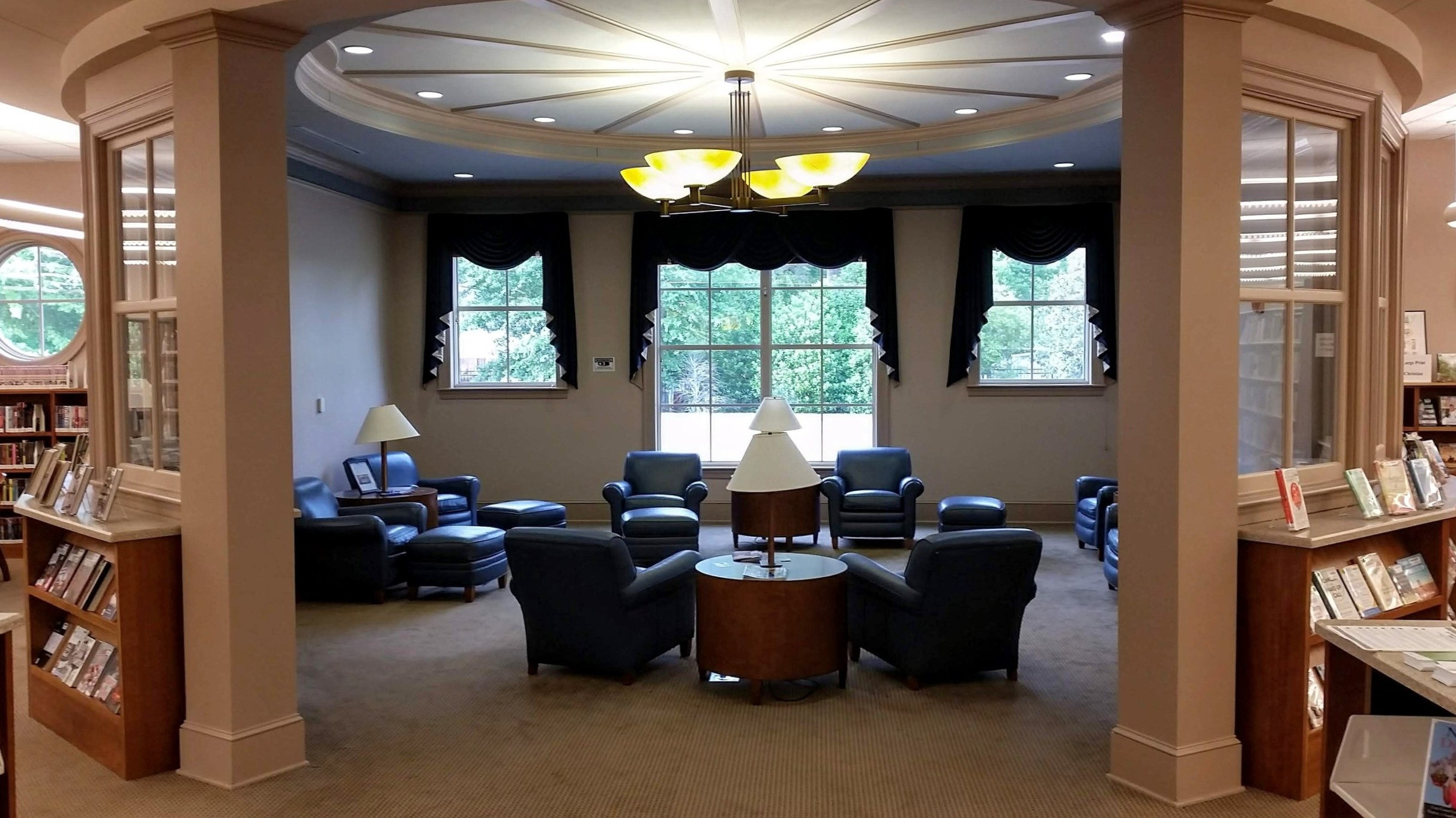 The reading room at the Lanford Public Library