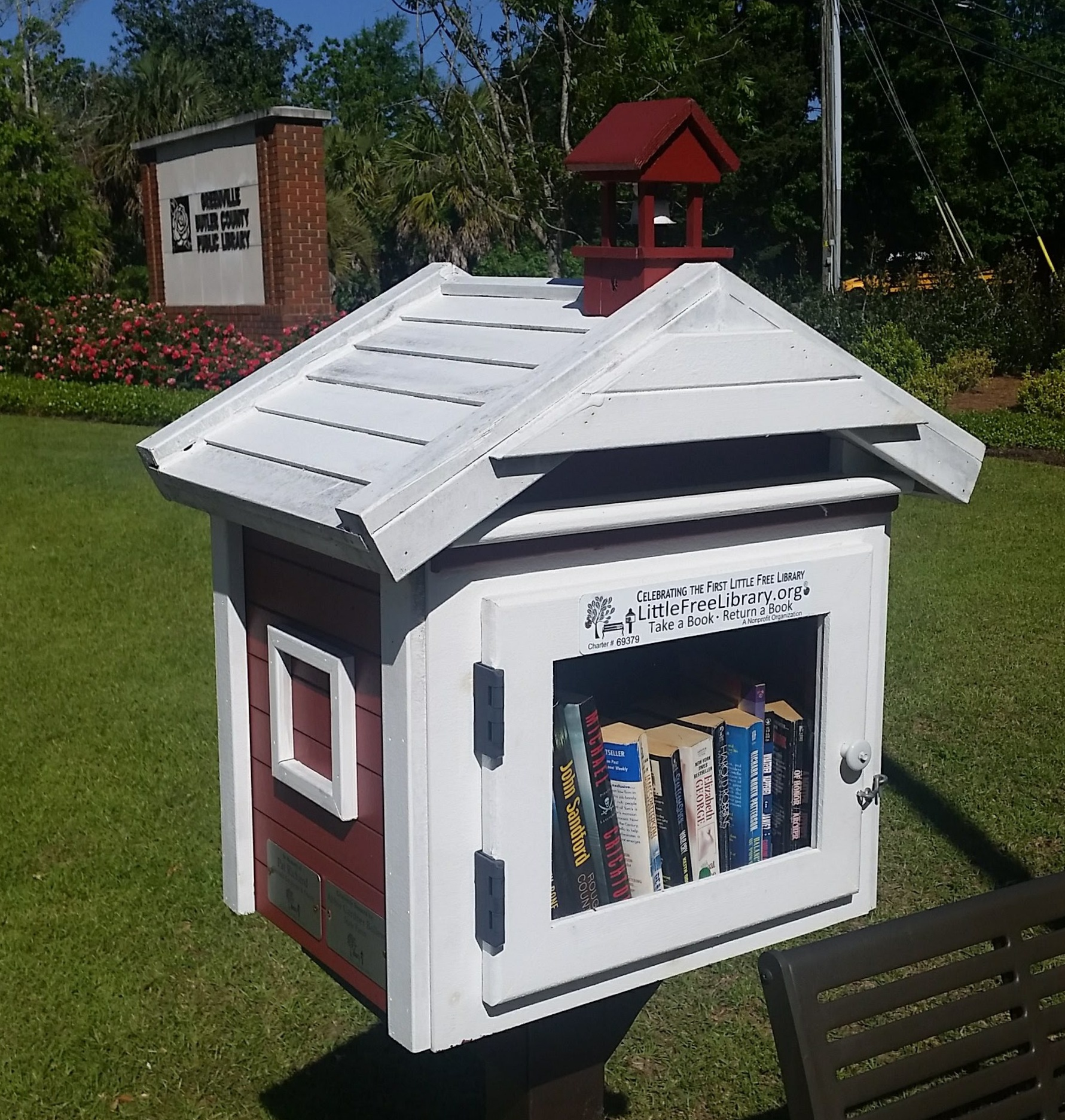 A little library in Greenville