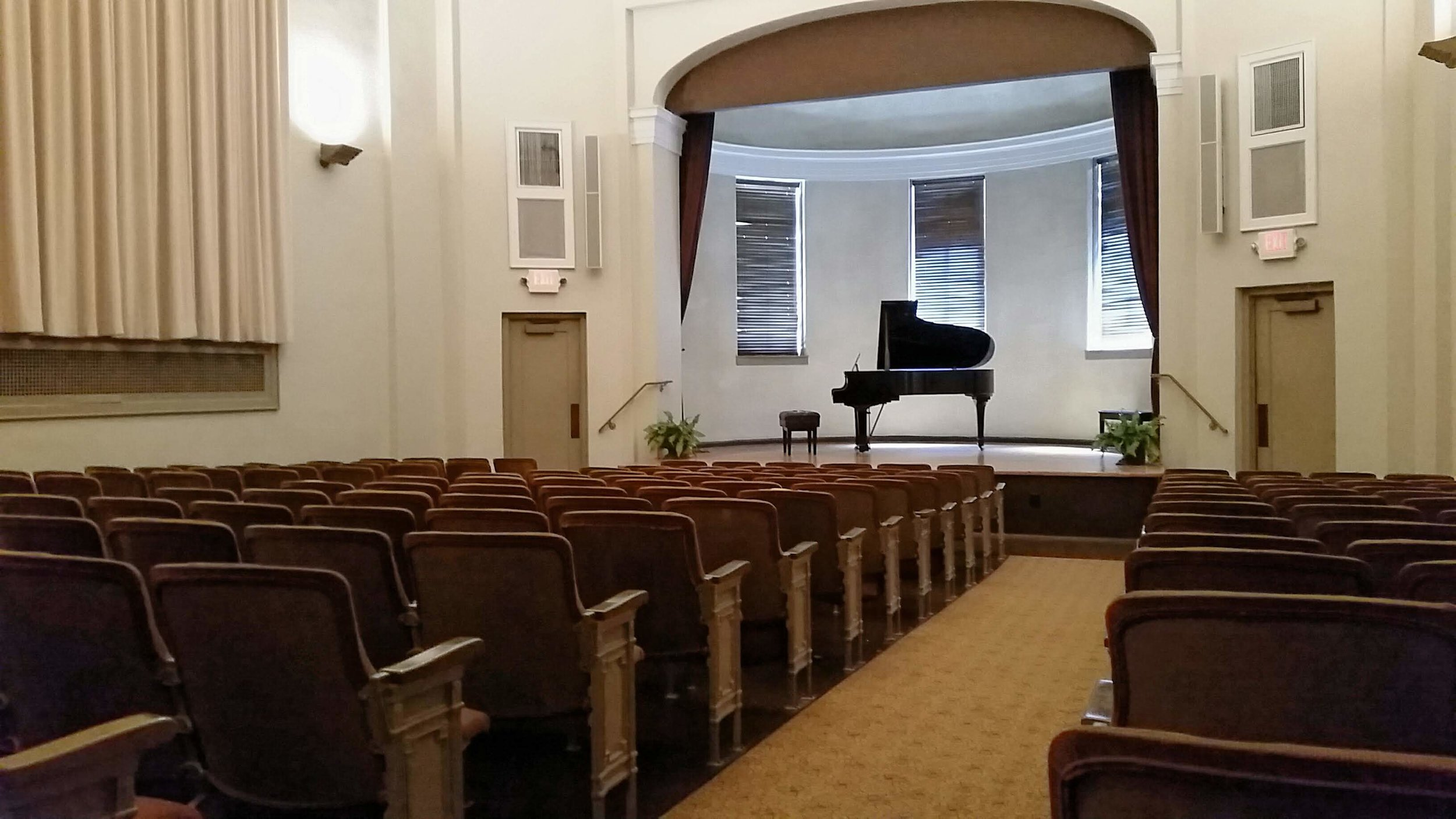 The theater at the Ben May Library