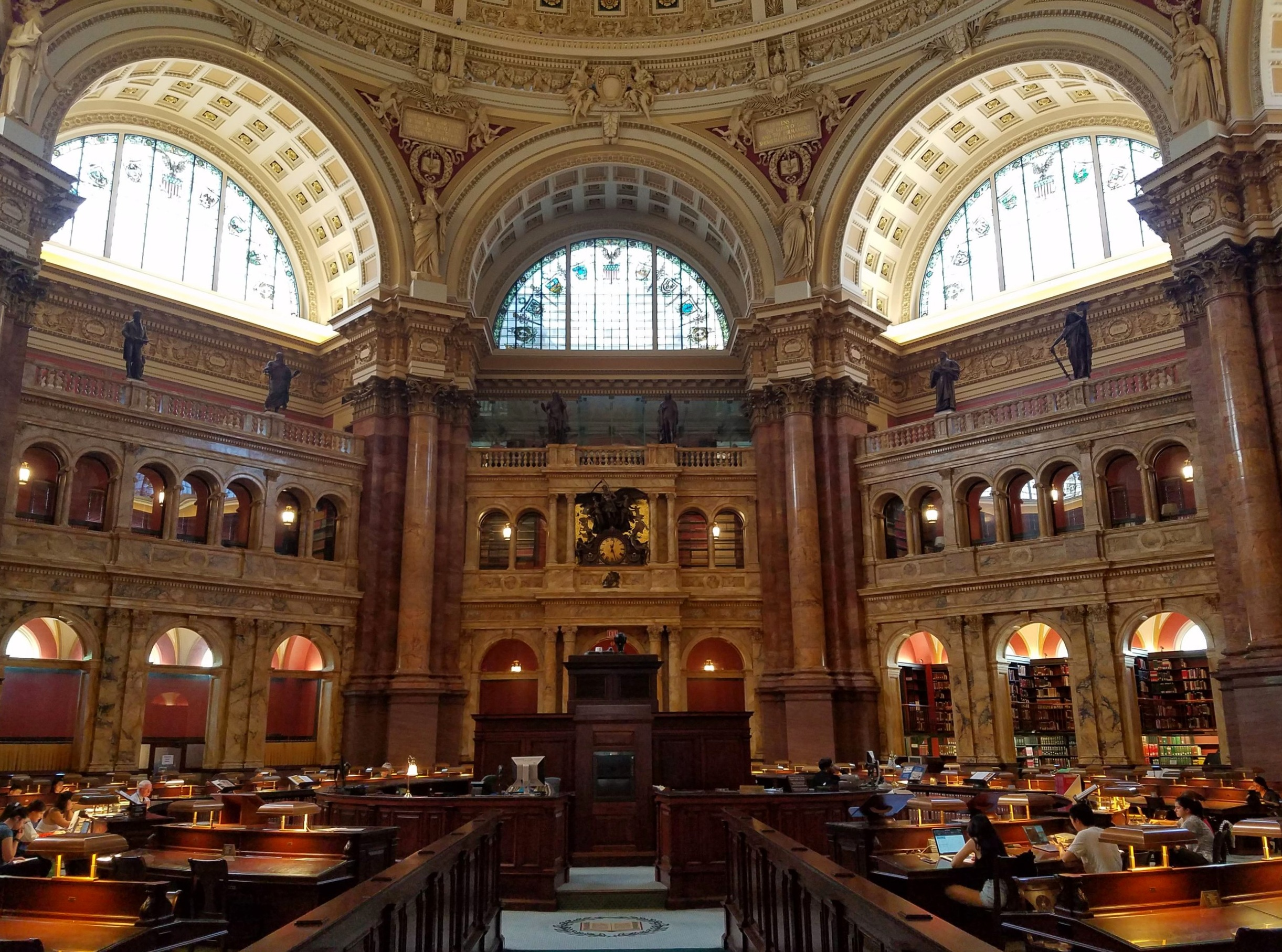 The magnificent main reading room.