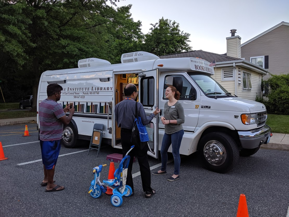 The Morse Institute Bookmobile in action!