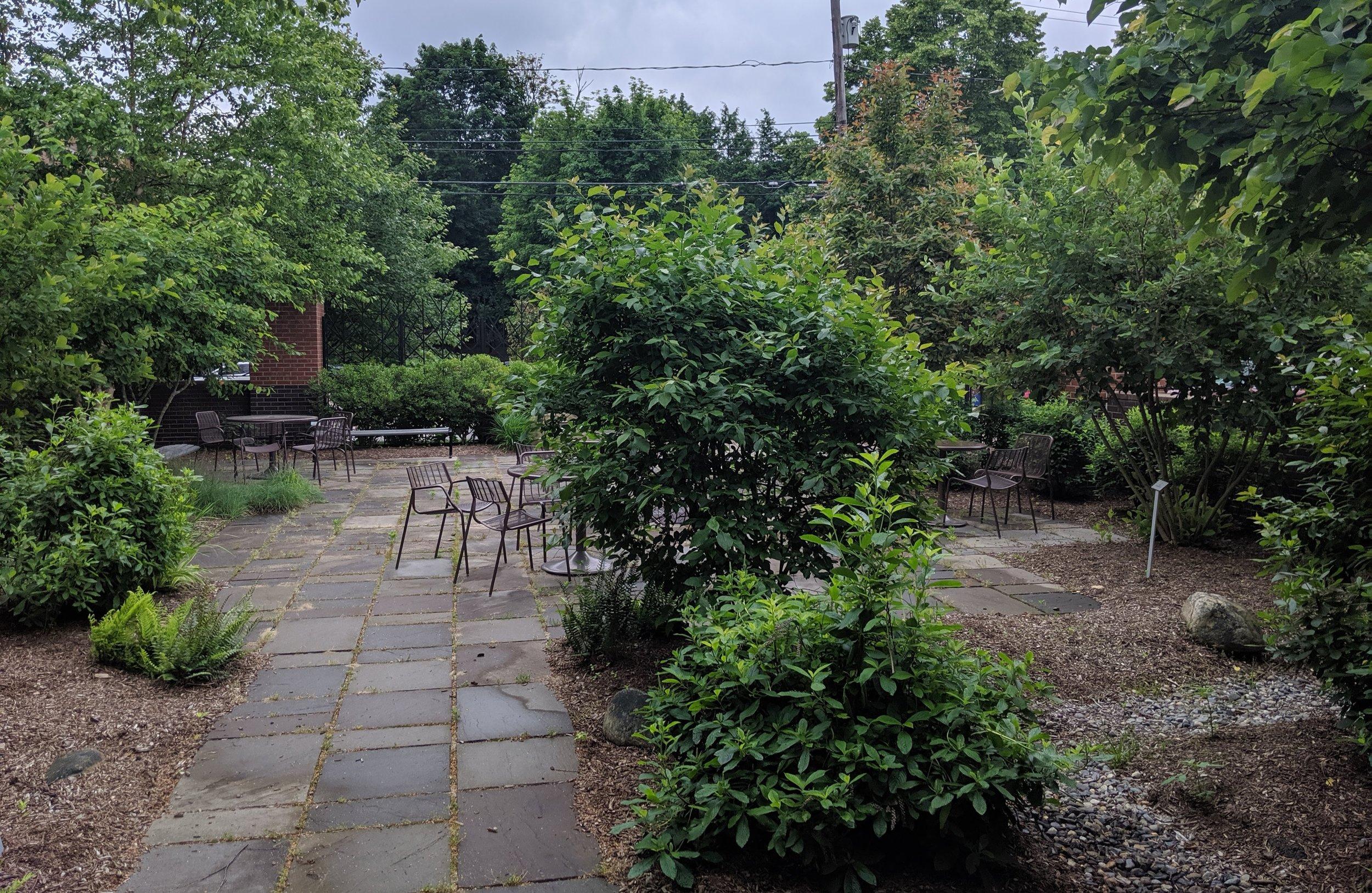 The reading garden.