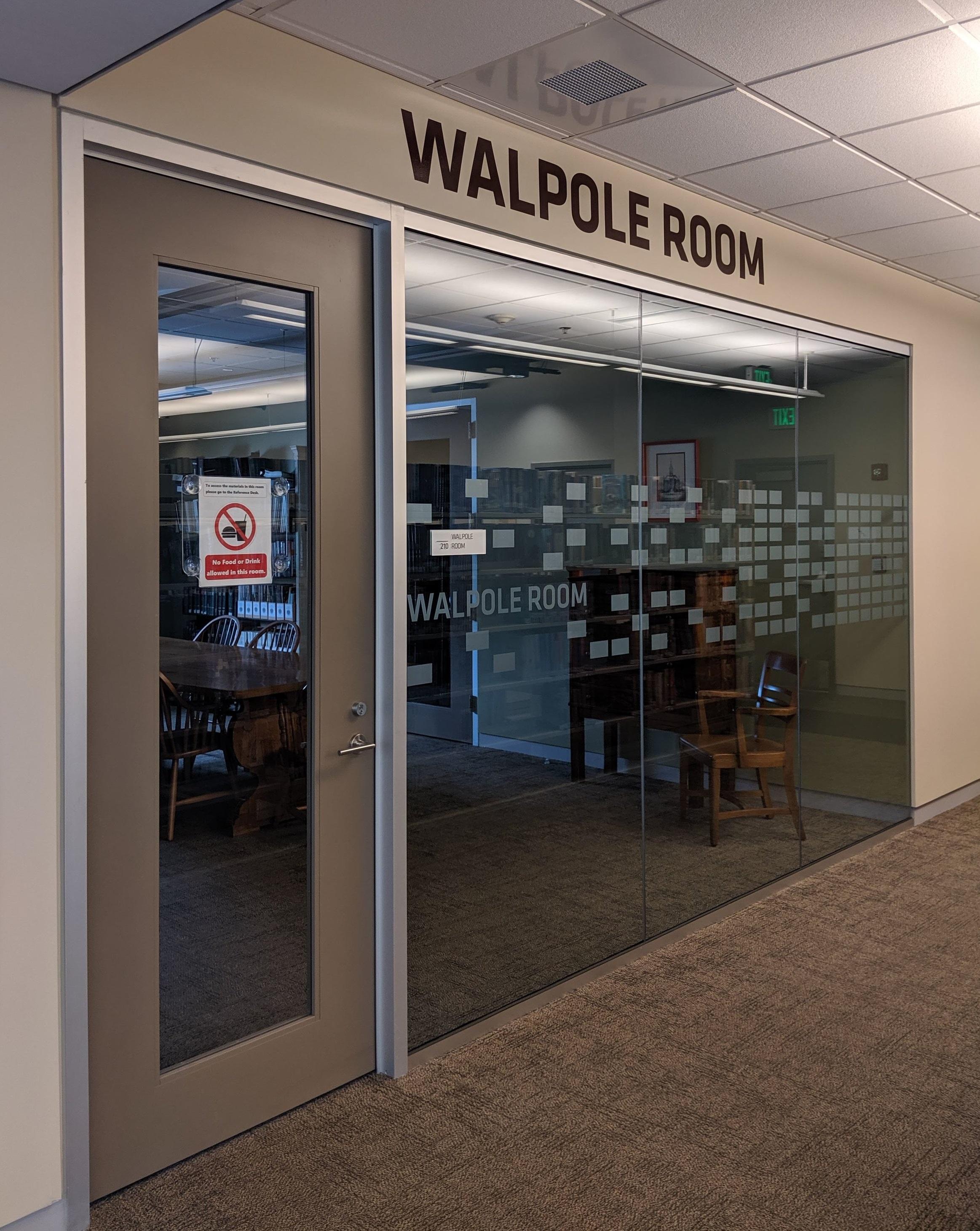 The Walpole history/meeting room.