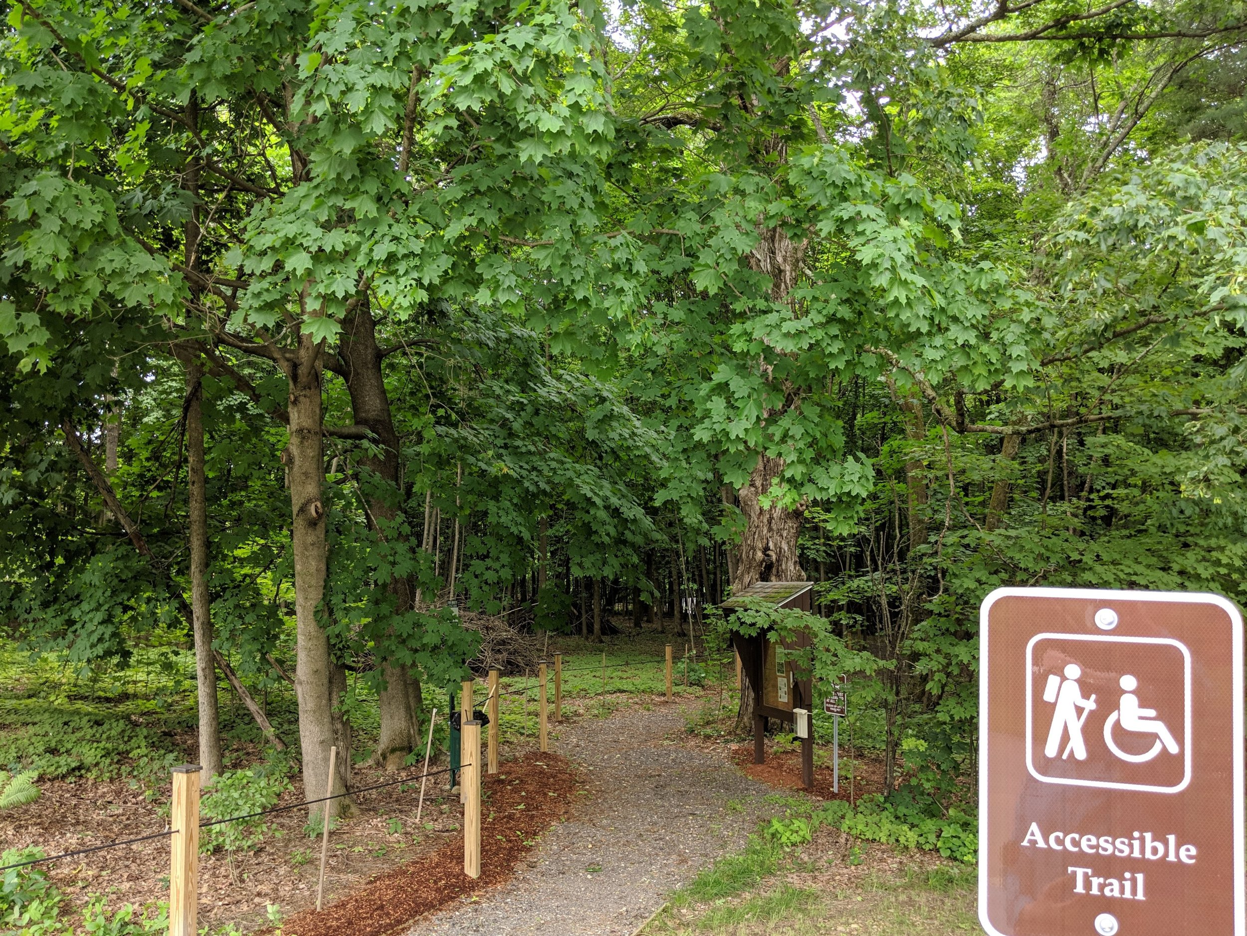 The accessible nature trail in Pepperell.