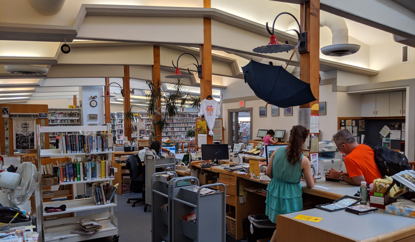 The Wellfleet Circulation Desk.