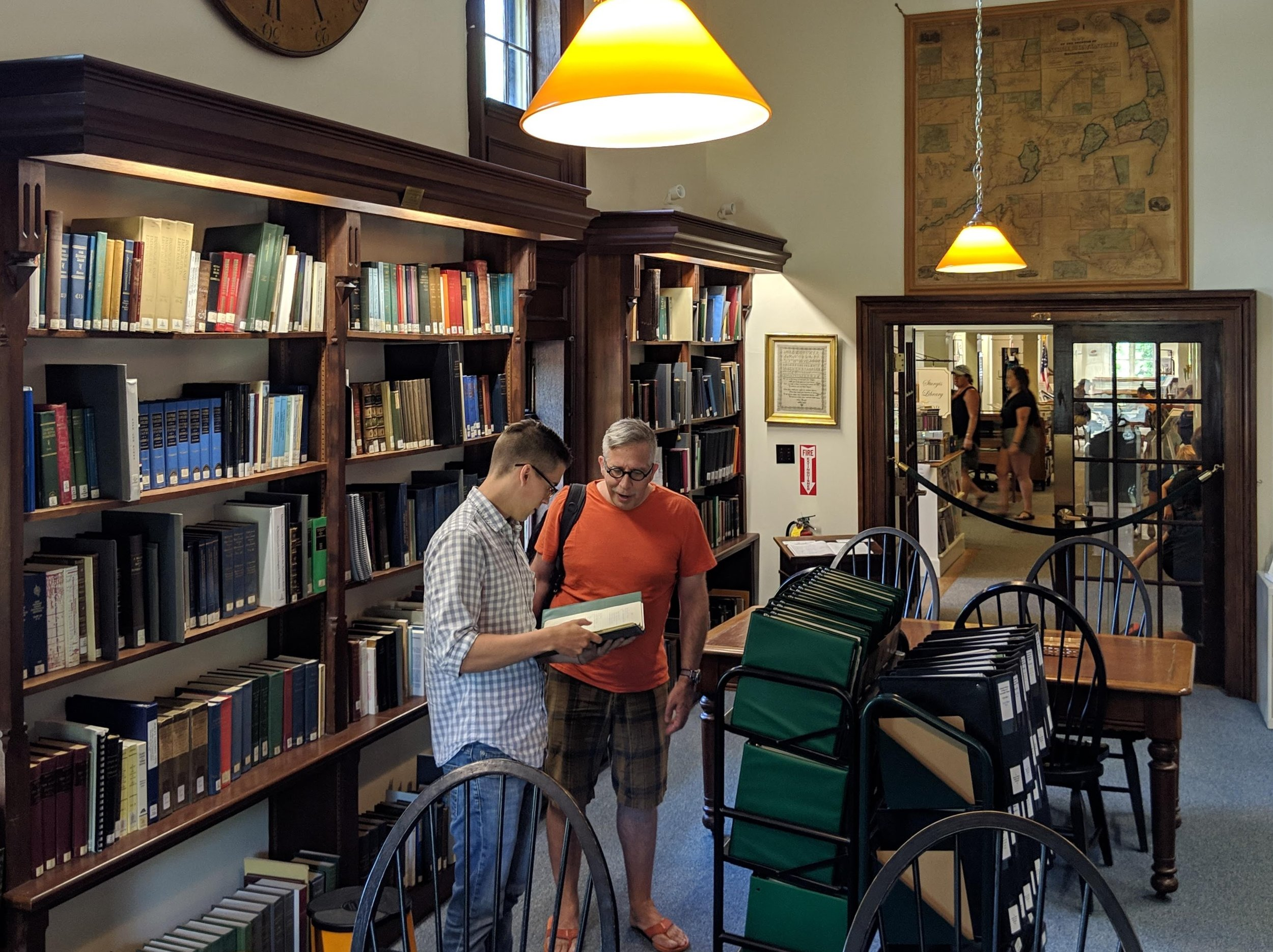 A small portion of the Sturgis Library's genealogy collection.