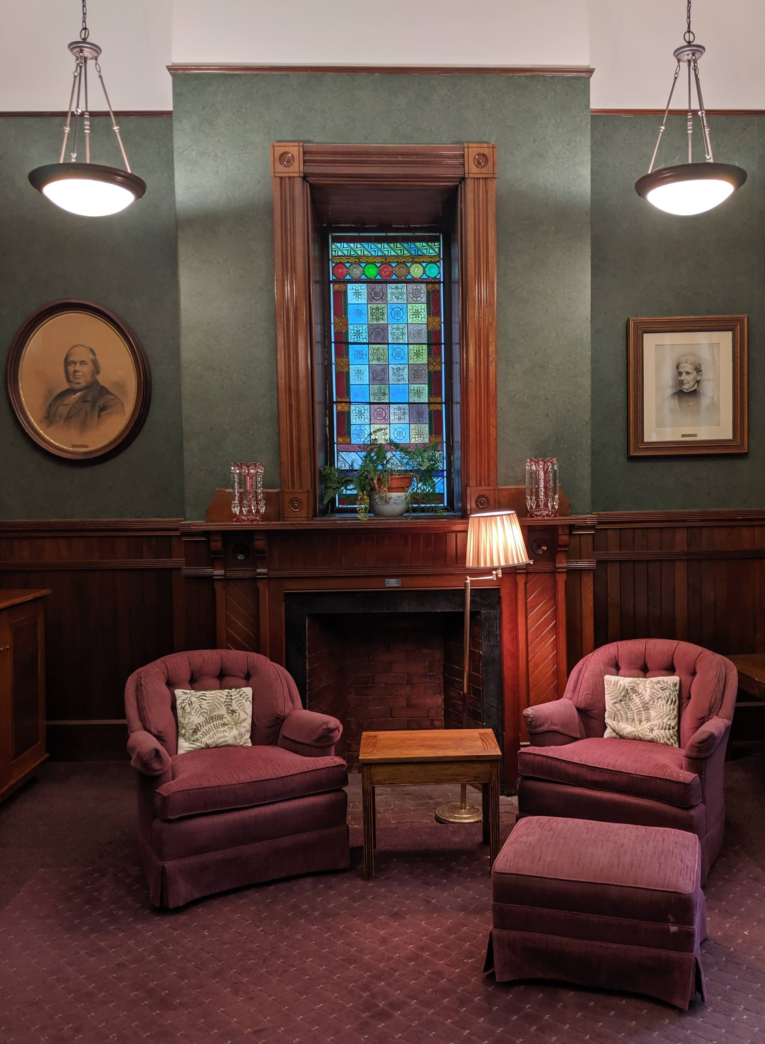 A sweet seating area at the Brewster Ladies' Library