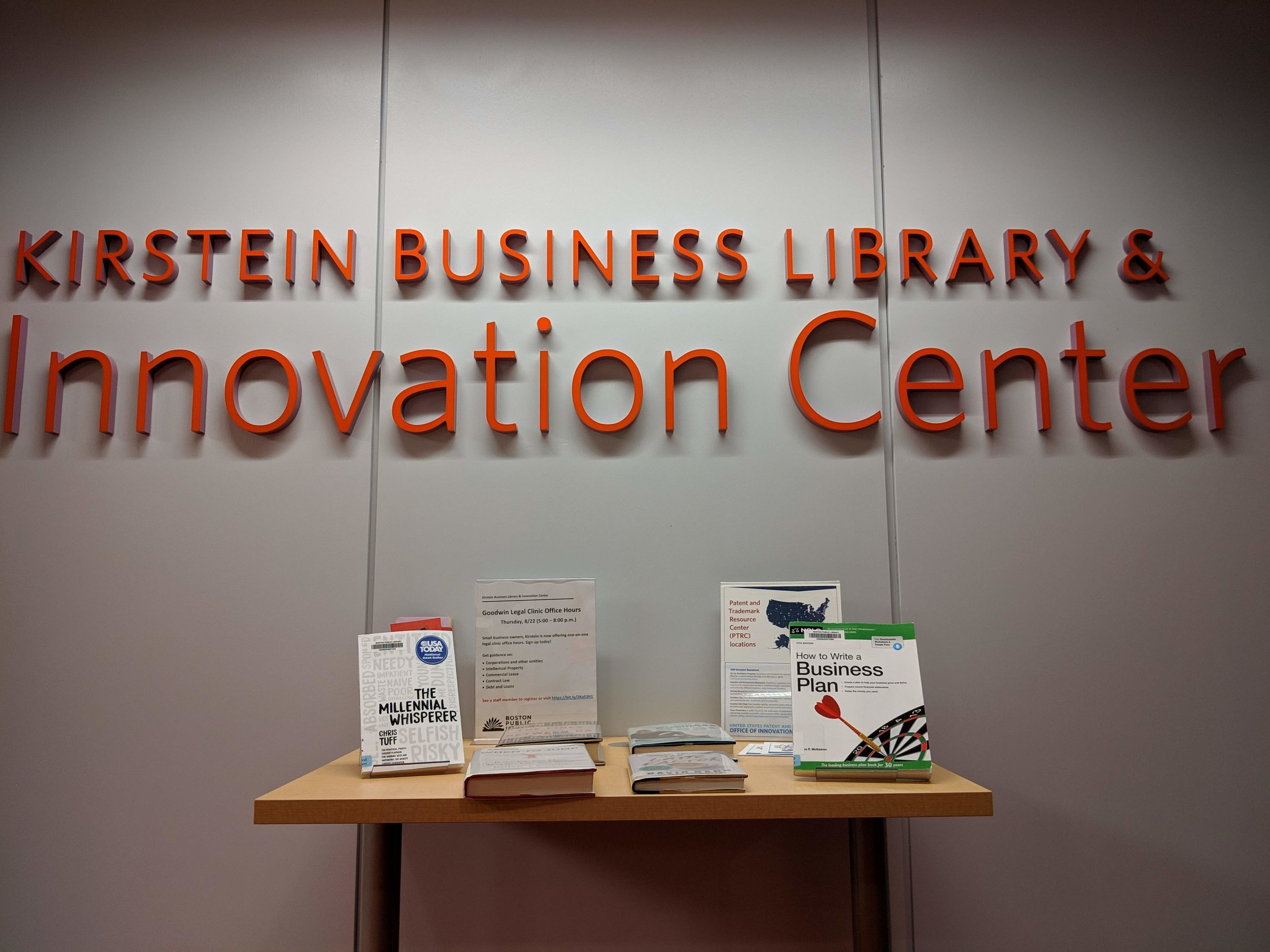 We can't say enough about the amazing resources and services available at the Kirstein Business Library and Innovation Center.