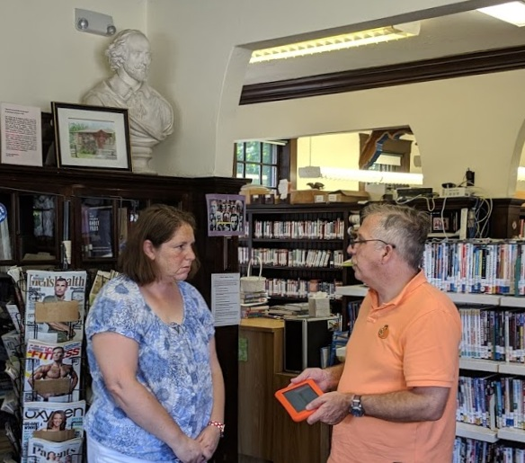 Visiting the Dighton library.