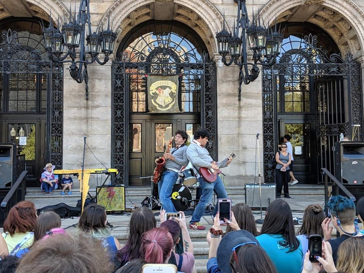 Harry and the Potters rockin' at the BPL!