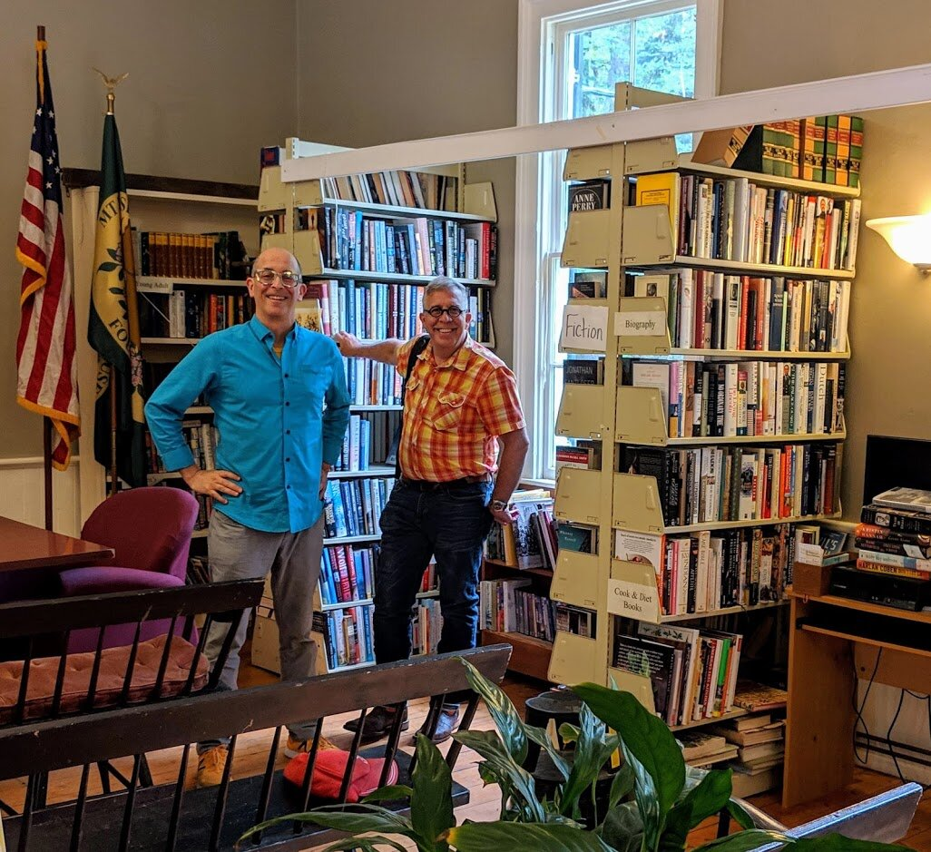 Inside the tiny Mount Washington town hall/public library.