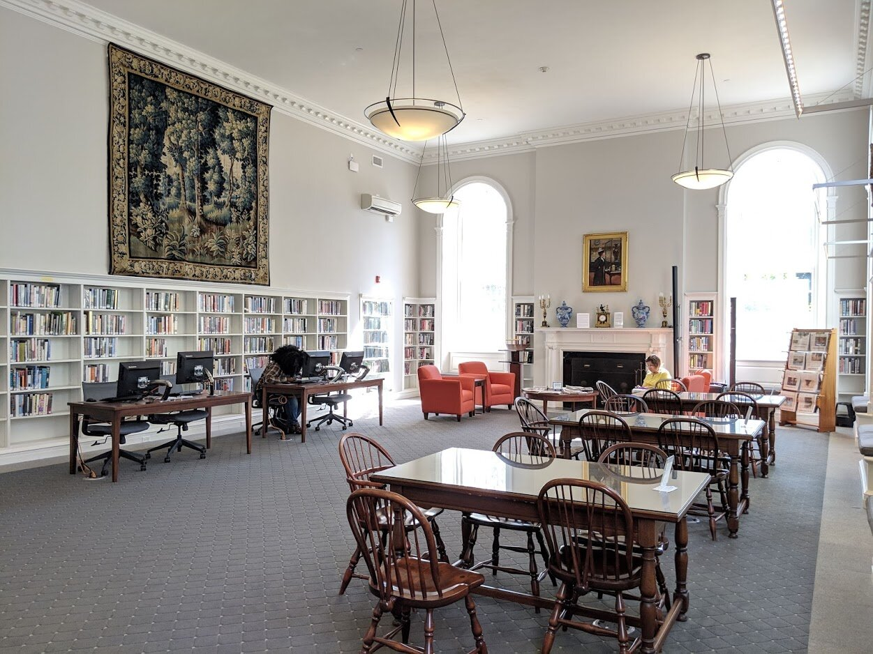 One of the gorgeous reading rooms in Stockbridge.