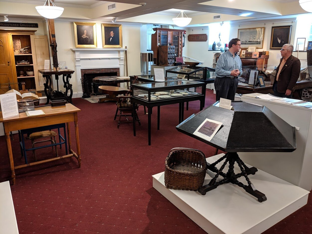 Visiting the Stockbridge Library Museum. The Jonathan Edwards desk is in the foreground.