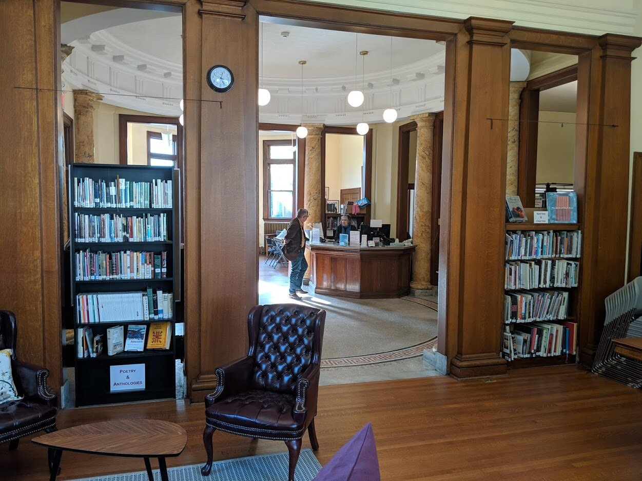 Inside the Ramsdell Library.