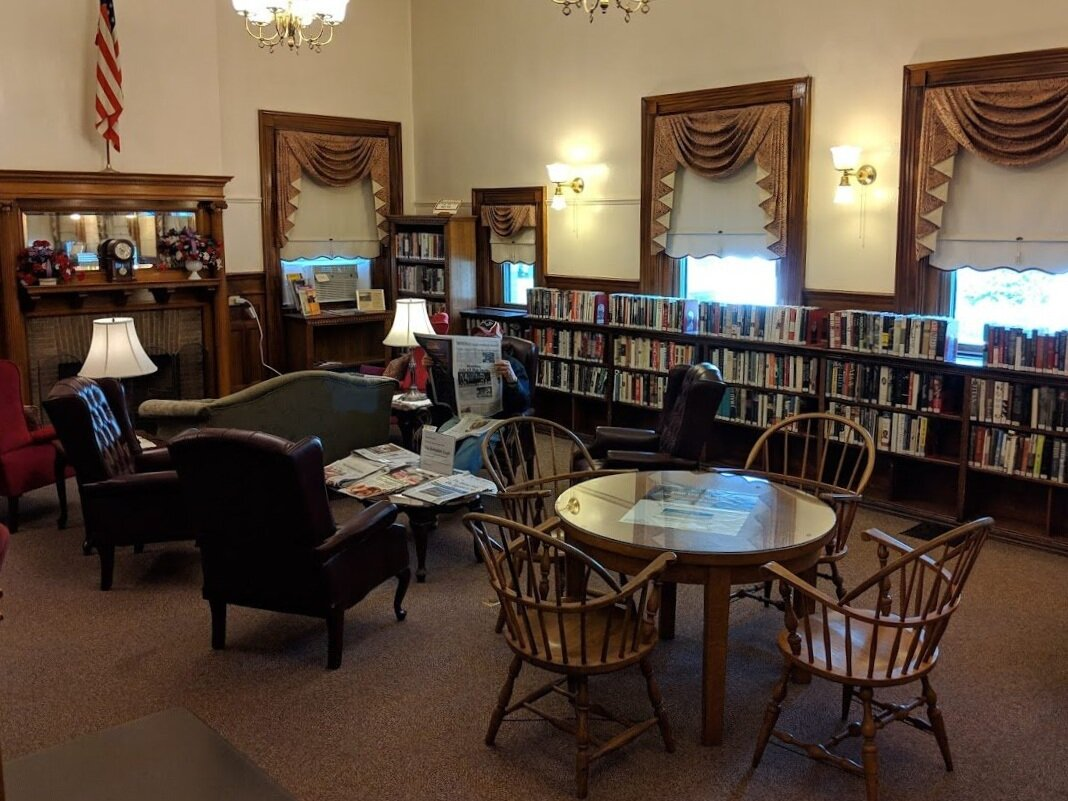 The reading room at the Adams Library.